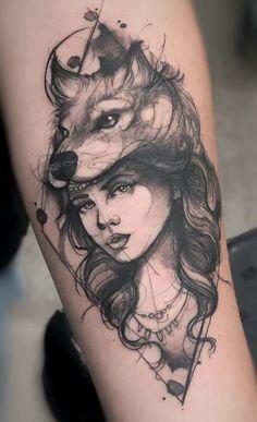 Die 230 besten Wolf Tattoos im Internet [Femininas e Masculinas] Piercing Tattoo, Piercings, Body Art Tattoos, Sleeve Tattoos, Tatoos, Skull Rose Tattoos, Small Tattoos, Wolf Girl Tattoos, Tattoo Wolf