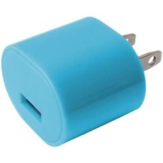 iEssentials(R) IE-AC1USB-BLU 1-Amp USB Wall Charger (Blue)