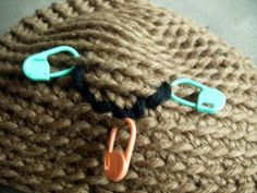 Tips: Embroidered Smile on Amigurumi using Stich Markers as your guide.