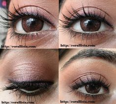 Neutral plum eye makeup Tutorial with MAC eye shadows