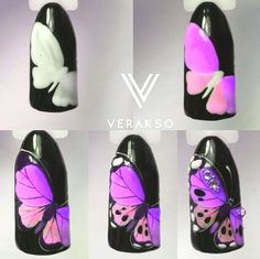 Here are some hot nail art designs that you will definitely love and you can make your own. You'll be in love with your nails on a daily basis. Autumn Nails, Spring Nails, Summer Nails, Daisy Nail Art, Butterfly Nail Art, Nail Art Papillon, Bright Nail Art, Lavender Nails, Animal Nail Art