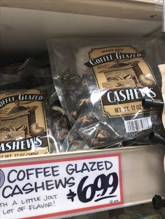 Coffee Glazed Cashews