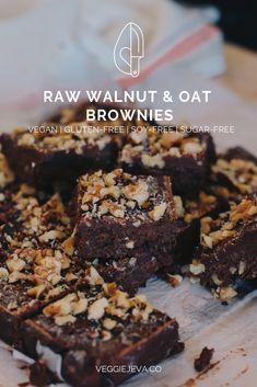 45 Trendy Chocolate Fudge With Walnuts Gluten Free Vegan Gluten Free Desserts, Raw Desserts, Vegan Treats, Healthy Dessert Recipes, Vegan Snacks, Healthy Baking, Raw Food Recipes, Raw Vegan Dinners, Freezer Recipes