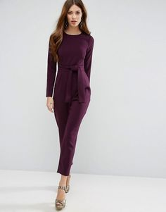 72e2ff1bcca ASOS Jumpsuit with Tie Front and Peg Leg at asos.com