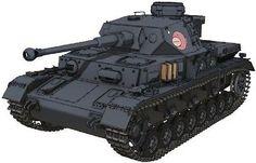 Platz 1/72 Girls und Panzer GP72-1 IV Tank D type reformer Anko team ver JPN 33
