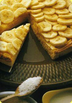 Crostata alla banana e cocco.