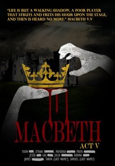 Idea: Macbeth poster up on the projector, with the cast for student readings?
