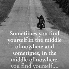 Finding yourself in unexpected places...
