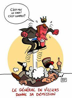 DUF  (2017-07-20) France: Emmanuel Macron,  General de Villiers   Le caprice de Sa Majesté Macron... https://www.facebook.com/Gluttonduf