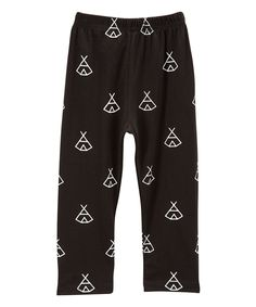 Loving this Black Teepee Hipster Pants - Infant & Toddler on Infant Toddler, Toddler Girls, Hipster Pants, Teepee Party, Cotton Pants, New Parents, Pajama Pants, Couture, Baby