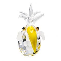 Preciosa Charlie the Parrot Crystal Figurine with Yellow Beak