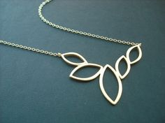 multi marquise necklace  16K matte yellow gold by Lana0Crystal, $21.00