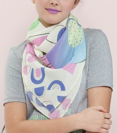 Cooky Cacti Print Scarf  $78.00 Large silk scarf.