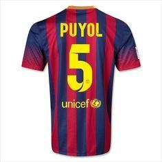 Men's 13/14 FC Barcelona Puyol 5 Home Soccer Jersey 820103337403 on eBid United States