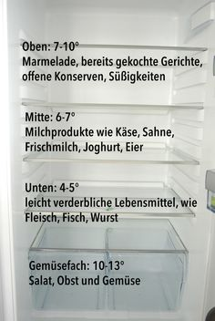 Den Kühlschrank richtig einräumen Give the fridge right – that's the way it works!