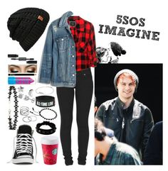 Imagine: Meeting Michael before a Concert by jazziwheat 5sos Outfits, 5sos Imagines, Rimmel, Miss Selfridge, Madewell, Denim, Concert, Stockholm, Polyvore