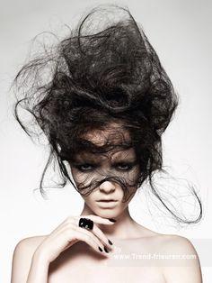 Hooker & YOUNG Lange Schwarz weiblich Gerade Rauchartig Messy Plastische Avantgarde Frauen Frisuren hairstyles