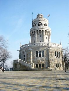 The Elisabeth lookout tower on János Hegy (John Hill) Budapest, Hungary