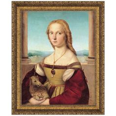 Young Woman with Unicorn, 1506 by Raphael (Sanzio Raffaello) Framed Painting Print
