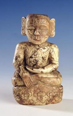 Seated Buddha (ivory) 19th century,Burmese School