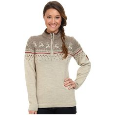 Dale of Norway Tuva Women's Sweater ($318) ❤ liked on Polyvore featuring tops, sweaters, mock neck sweater, fitted tops, zip sweater, cocktail tops and zipper sweater