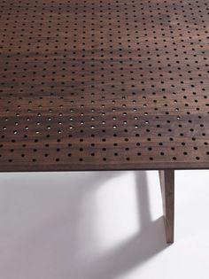Perforated table - colino / michele de lucchi, riva 1920