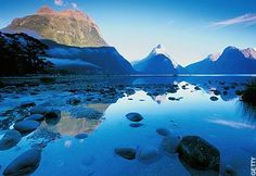 Milford Sound in New Zealand. I want to walk the entire Milford Track, I have heard it described as the most perfect walk in the world.