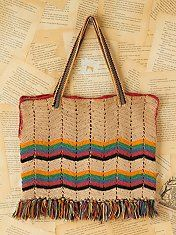 Vintage Multicolor Stripe Woven Bag; $228
