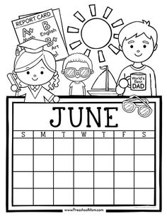 Free set of Calendar for students to Write and Color. This set is super cute and features monthly themes and holidays. Perfect for Preschool Daily Caledar Kindergarten Calendar, Preschool Calendar, Kids Calendar, Calendar Pages, Preschool Printables, Calendar Ideas, Calendar 2018, Calendar Design, Free Monthly Calendar
