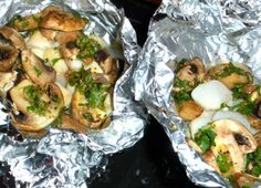 Grilled Scallops And Mushrooms In Foil Packets Recipe - Food.com: Food.com