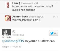 Ashton irwin, Austerican man..