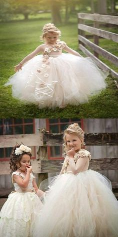 a3fc9fb8e New Arrival Tulle Jewel Neckline Ball Gown Flower Girl Dresses,Cute Flower  Girl Dresses With Hand Made Flower,FG008