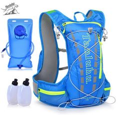 TANLUHU 15L Running Backpack Trail Racing Hydration Vest Pack Outdoor Camping Hiking Running Water Hydration Backpack Sport Bag #Affiliate