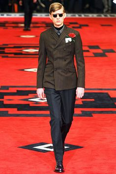 Prada Fall 2012 Menswear - goes steampunk!  So, the next time an Italian 3rd-grader asks me what my favorite fashion house is, I finally have an answer.