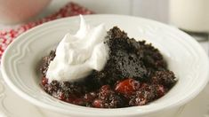 Black Forest Cake...Ina slow cooker/crockpot Blogger Deborah Harroun of Taste and Tell makes one of her favorite cakes – in the slow cooker!