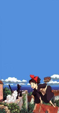 Best Ideas For Anime Wallpaper Iphone Backgrounds Studio Ghibli Wallpaper Animes, Animes Wallpapers, Movie Wallpapers, Cute Wallpapers, Totoro, Studio Ghibli Art, Studio Ghibli Movies, Hayao Miyazaki, Wallpaper Studio