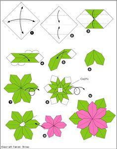 Схема оригами цветок