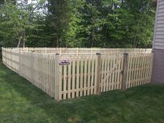 4' high space picket with dog eared pickets in Haymarket, VA | Beitzell Fence
