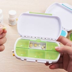 New Portable 6 Slots seal folding Pill Cases Jewelry candy box Storage Box…