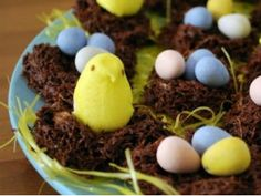 No bake 5-Ingredient Chocolate Nests for Easter