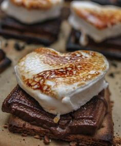 Gooey Valentine's Day Baked S'mores Full.. BUT any day is a good day for gooey smores!! lol