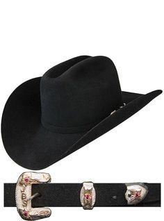 Stetson Hats Premier Collection El Patron SFEPTN-7740-07 Black cowboy hat  Black Cowboy ecaa0d2d19f