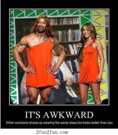 It is awkward