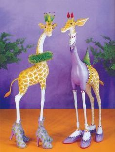 Patience Brewster George and Janet Giraffe Figure on sale!