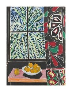 Art Print: Interior with Egyptian Curtain, 1948 by Henri Matisse : 14x11in
