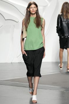 Hair: sleek on top, soft on the bottom Tibi Spring 2014 Ready-to-Wear Collection Slideshow on Style.com