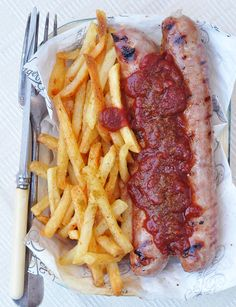 Smoky Currywurst with Gran Luchito Smoked Chilli Ketchup