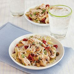 Farfalle with Chicken and Sun-Dried Tomatoes   CookingLight.com