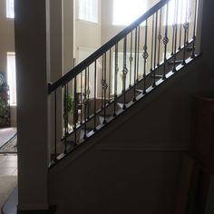 A full #baluster swap and retouch at the Mann's #Houston #Home http://www.venetianstairs.com/the-mann-residence/
