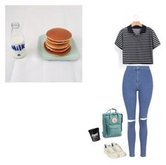 """Eat ya breakfast kids"" by puno266 ❤ liked on Polyvore featuring New Balance, Topshop, Fjällräven, women's clothing, women's fashion, women, female, woman, misses and juniors"